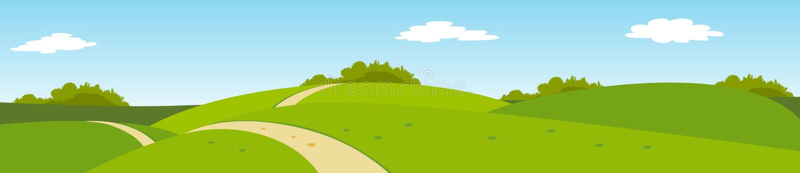 Paesaggio rurale panoramico di estate fotografie stock