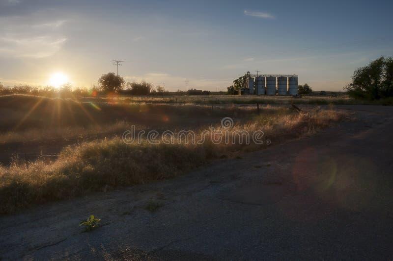 Paesaggio rurale pittoresco in California immagine stock