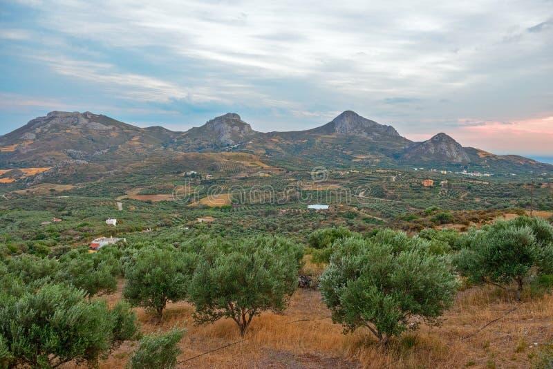Paesaggio rurale sull'isola di Creta, Grecia fotografie stock