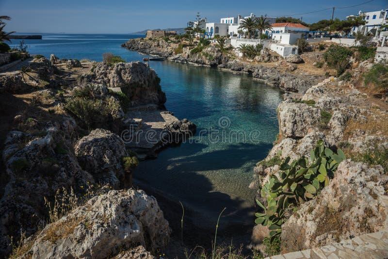 Paesaggio scenico con seaview, Cerigo, Grecia fotografia stock