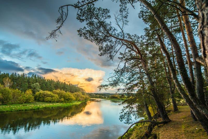 Paesaggio scenico del fiume fotografie stock libere da diritti