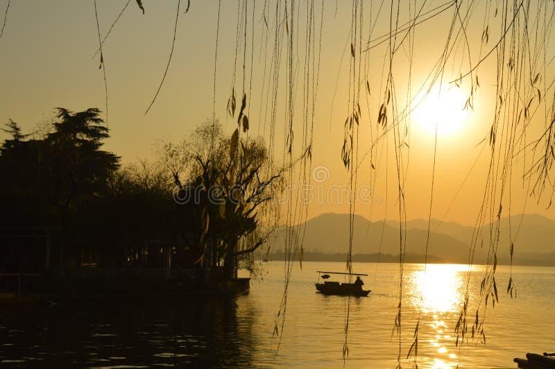 Paesaggio scenico del lago ad ovest hangzhou fotografia stock
