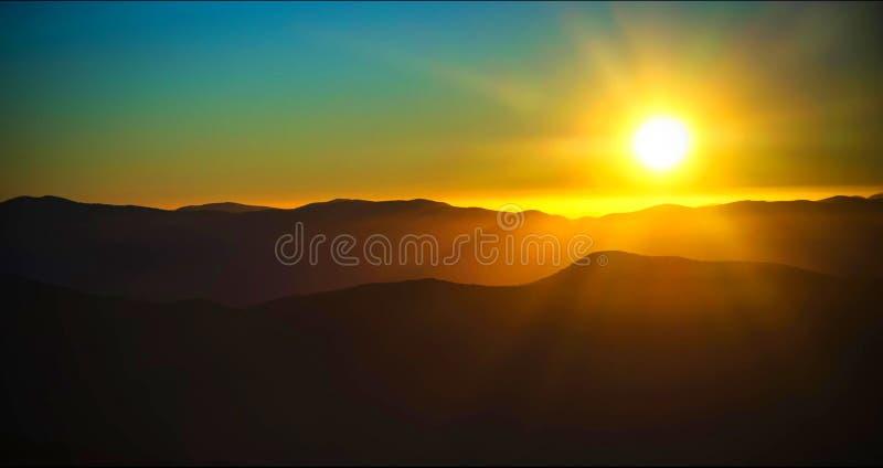 Paesaggio scenico del parco nazionale di Great Smoky Mountains fotografia stock