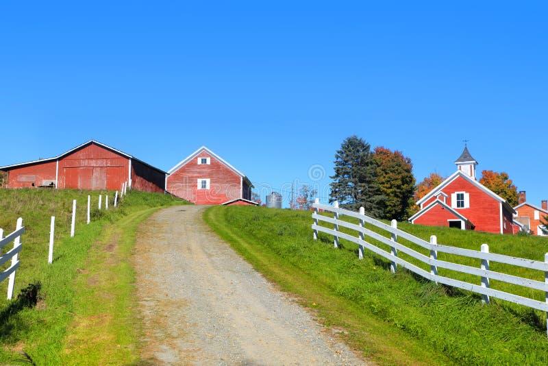 Paesaggio scenico dell'azienda agricola nel Vermont fotografia stock libera da diritti
