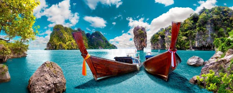 Paesaggio scenico Vista sul mare di Phuket fotografie stock