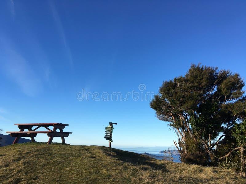 Paesaggio sopra la montagna immagini stock