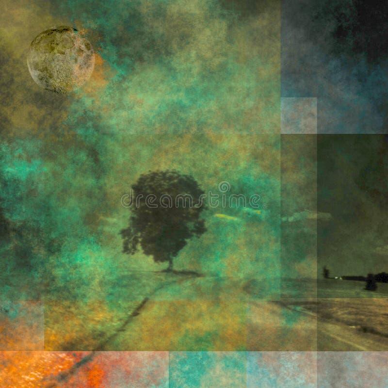 Paesaggio sottratto illustrazione di stock
