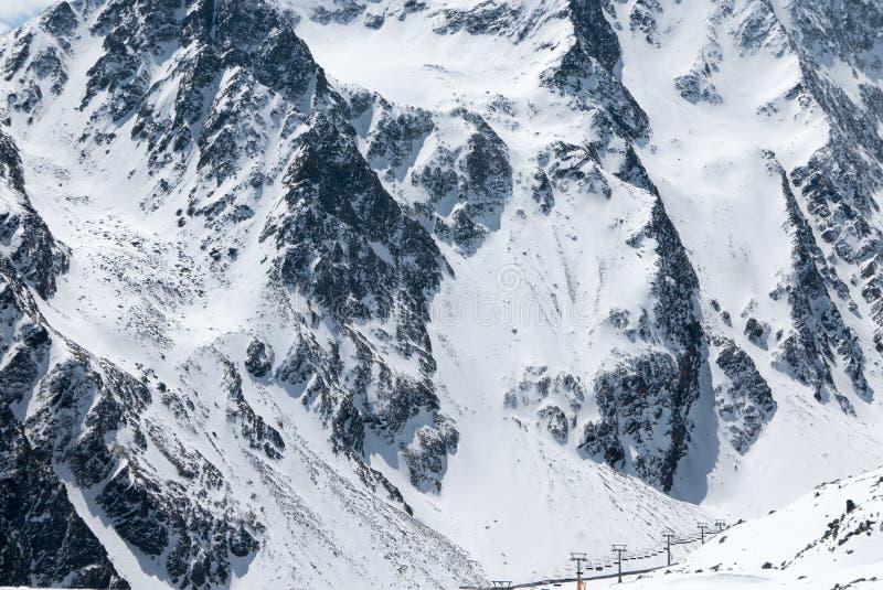 Paesaggio spettacolare di inverno della stazione sciistica austriaca immagini stock