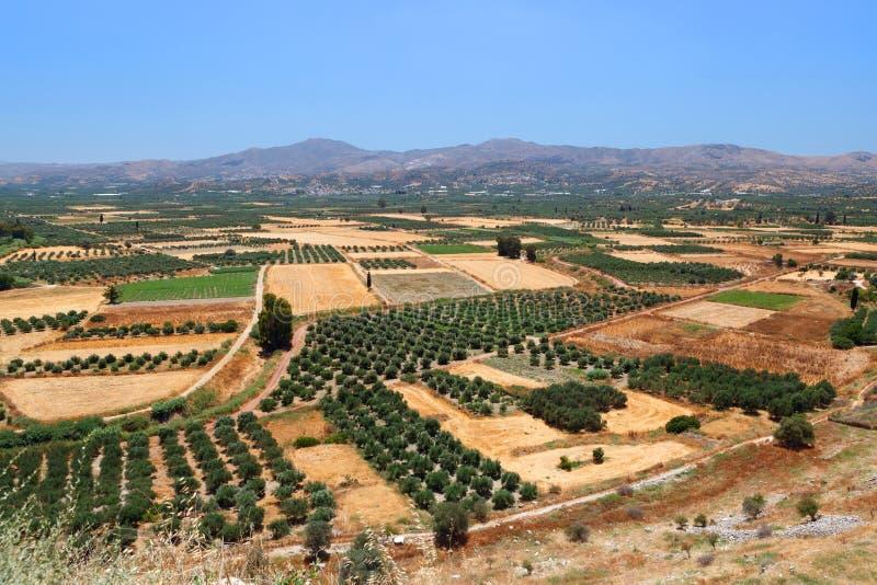 Paesaggio stupefacente dell'isola di Creta. immagine stock libera da diritti