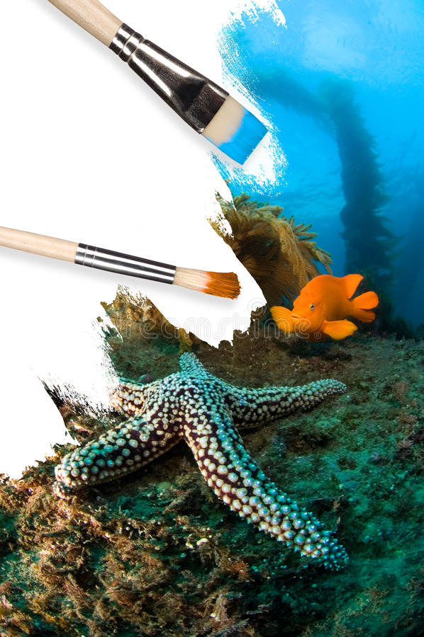 Paesaggio subacqueo concettuale immagini stock