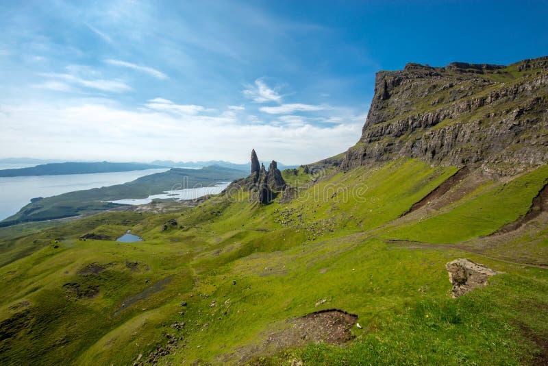 Paesaggio sull'isola di Skye fotografia stock libera da diritti