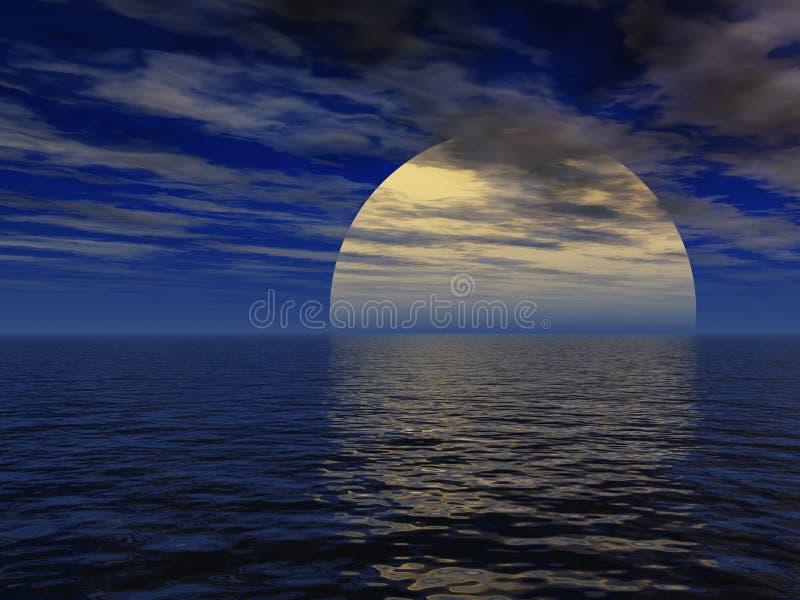 Paesaggio surreale di notte illustrazione di stock