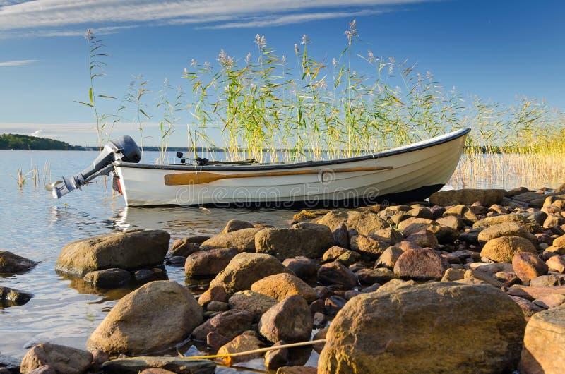 Paesaggio svedese di pesca immagini stock
