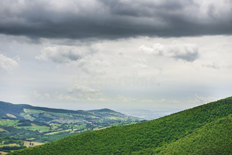 Paesaggio tipico in Marche fotografia stock