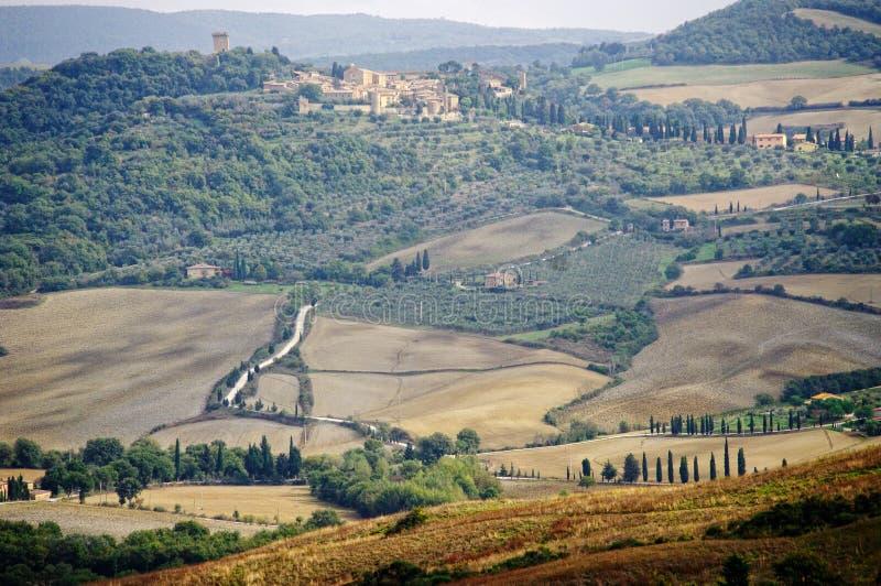 Paesaggio tipico in Toscana fotografie stock
