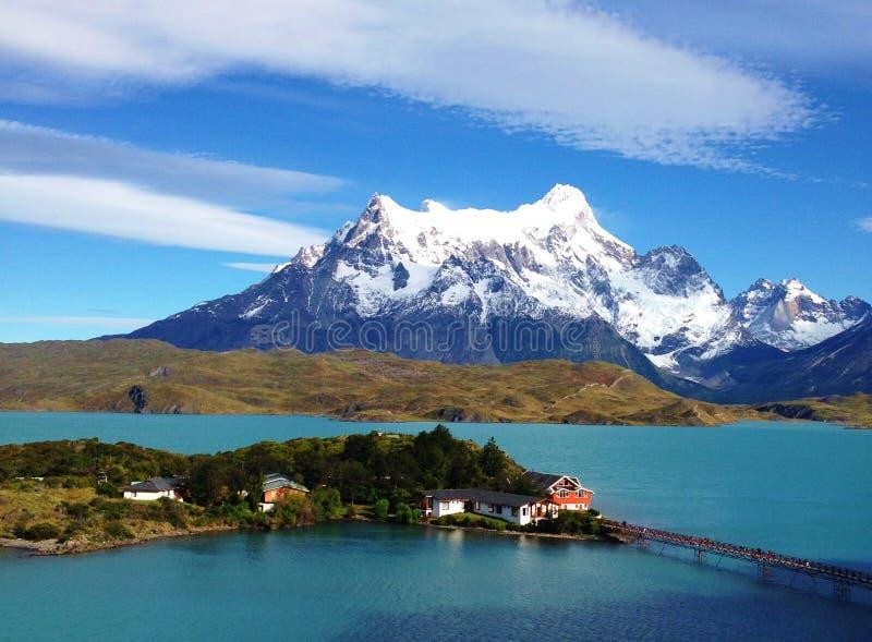 Paesaggio - Torres del Paine, Patagonia, Cile immagini stock