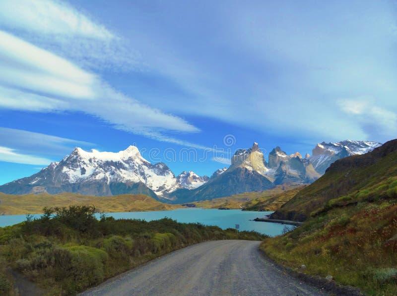 Paesaggio - Torres del Paine, Patagonia, Cile fotografia stock libera da diritti
