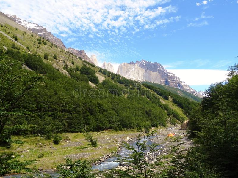 Paesaggio - Torres del Paine, Patagonia, Cile fotografie stock libere da diritti