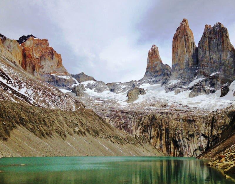 Paesaggio - Torres del Paine, Patagonia, Cile immagine stock libera da diritti
