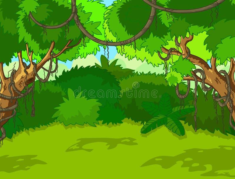 Paesaggio tropicale della foresta illustrazione di stock