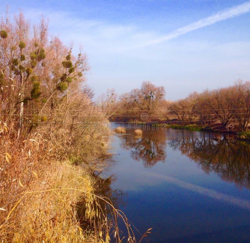 Paesaggio ucraino di autunno fotografia stock