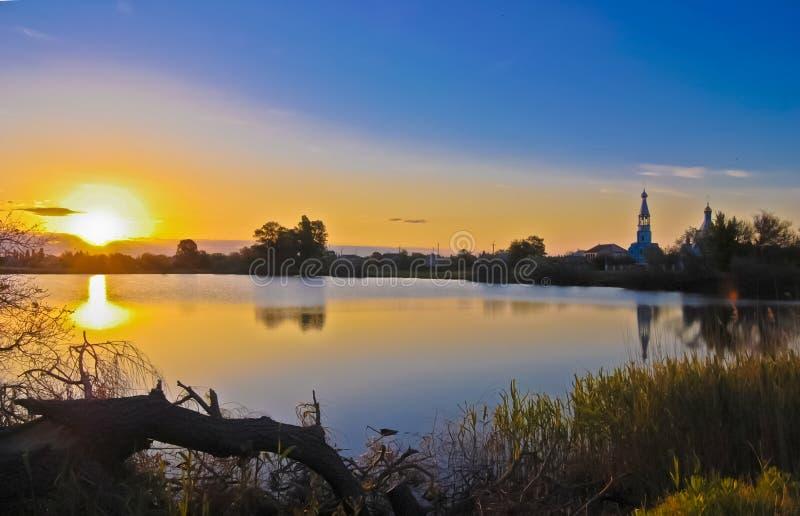 Paesaggio uguagliante pastorale ucraino immagine stock