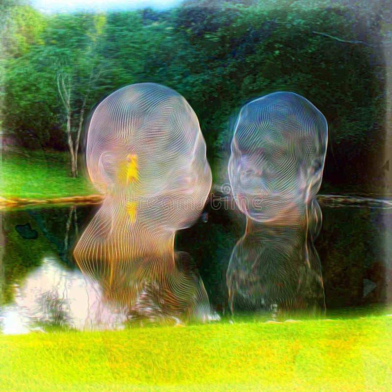 Paesaggio umano fotografie stock libere da diritti