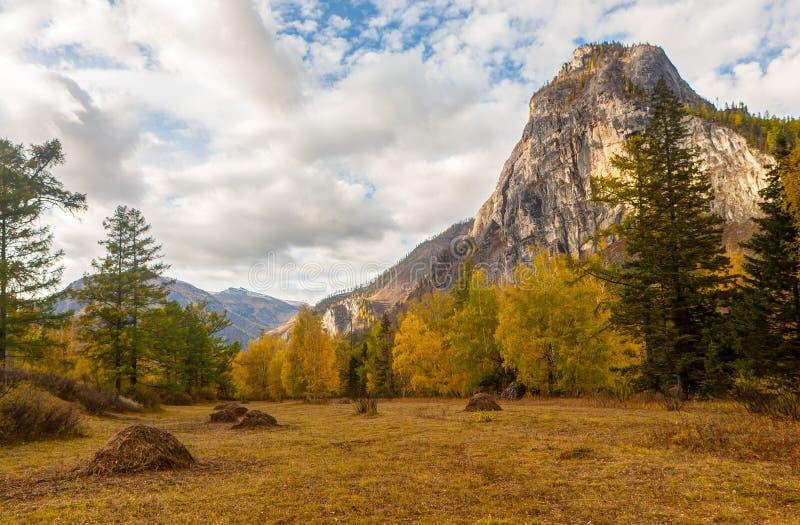 Paesaggio in una valle della montagna fotografia stock