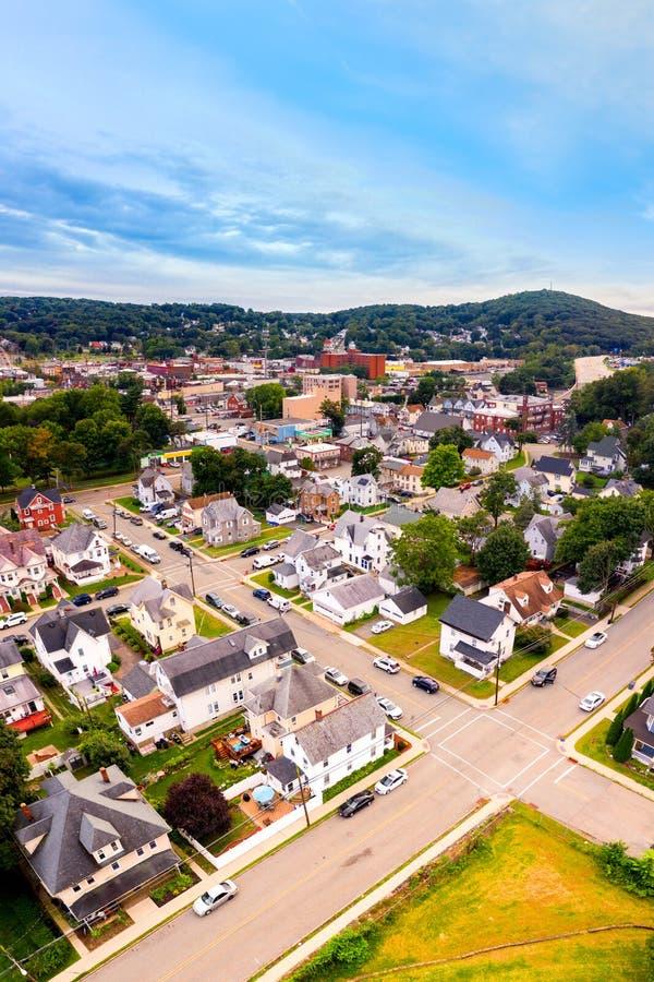 Paesaggio urbano aereo di Dover, New Jersey fotografie stock libere da diritti