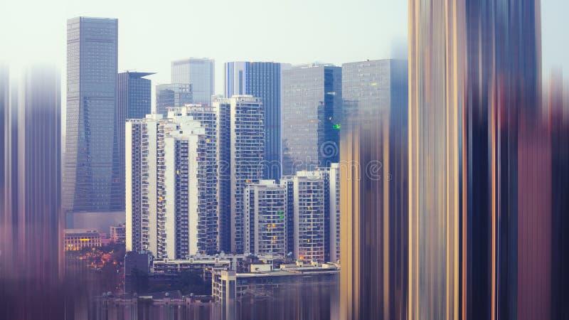Paesaggio urbano astratto di una città moderna fotografia stock