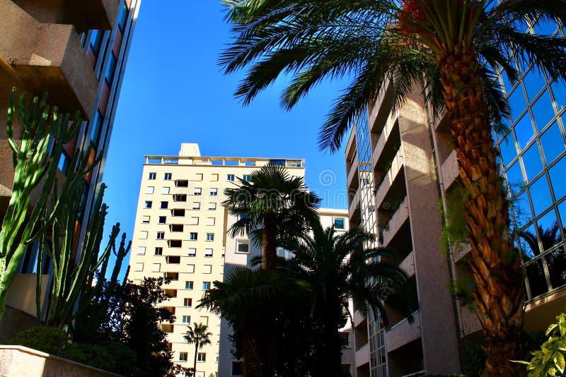 Paesaggio urbano citt? nel Monaco, Monaco immagine stock