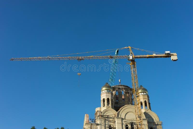 Paesaggio urbano con le viste della costruzione di Christian Church fotografia stock