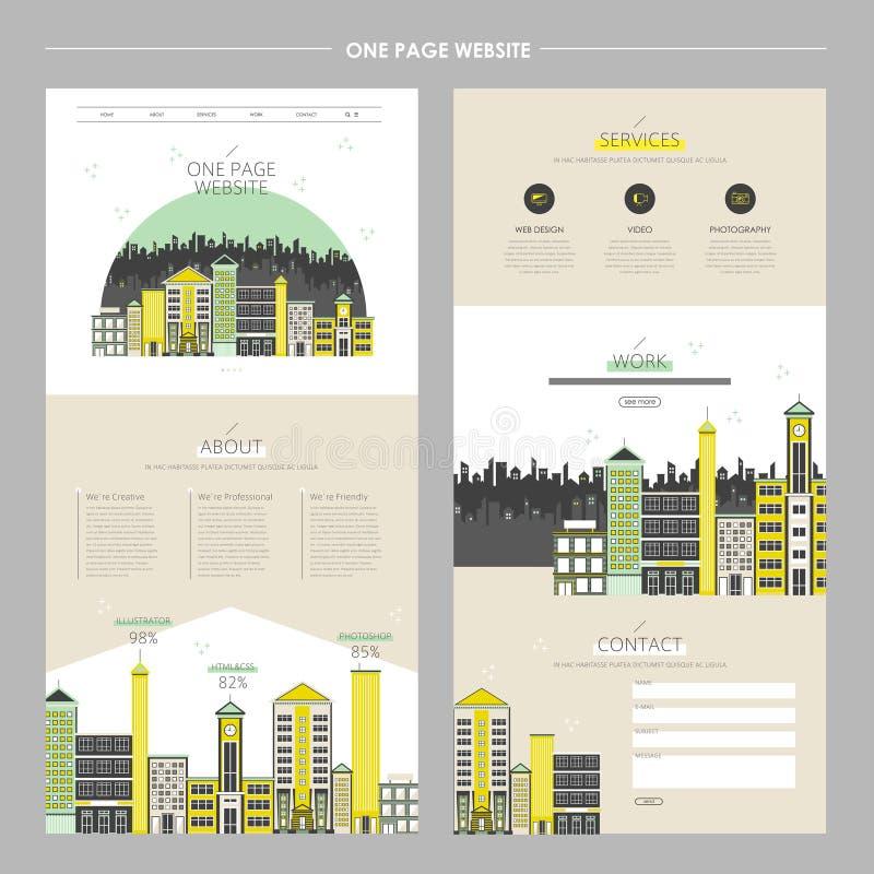 Paesaggio urbano creativo un sito Web della pagina illustrazione vettoriale