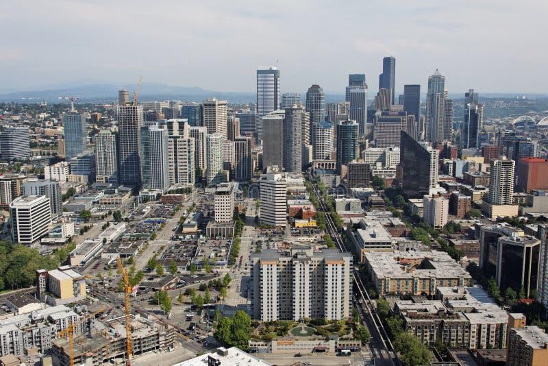 Paesaggio urbano del centro di Seattle fotografia stock libera da diritti