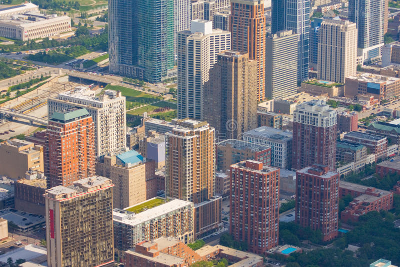 Paesaggio urbano del Chicago, Stati Uniti fotografia stock