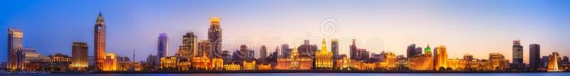 Paesaggio urbano dell'orizzonte di Shanghai immagine stock libera da diritti