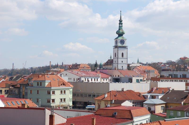 Paesaggio urbano della città di Trebic immagine stock libera da diritti