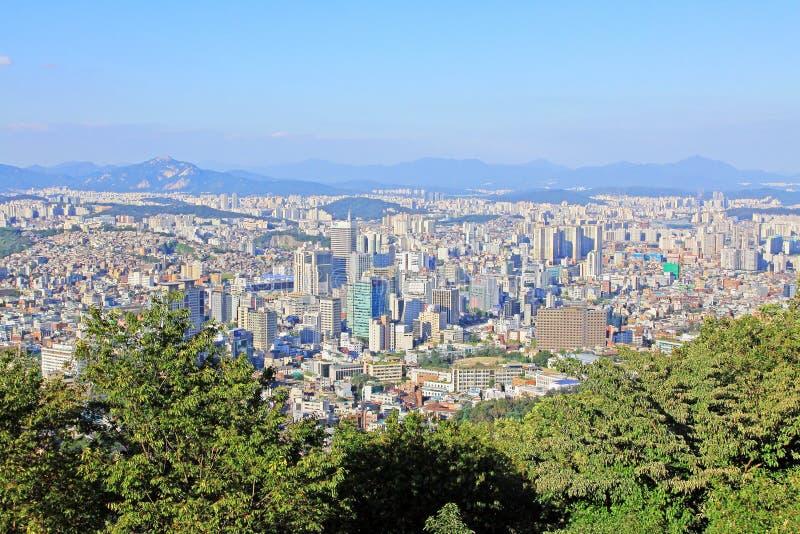 Paesaggio urbano della Corea Seoul fotografia stock