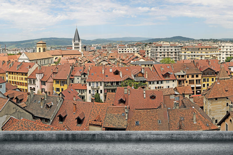 Paesaggio urbano di Annecy fotografia stock