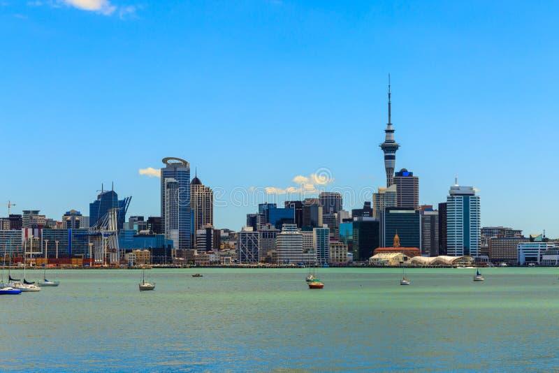 Paesaggio urbano di Auckland immagine stock