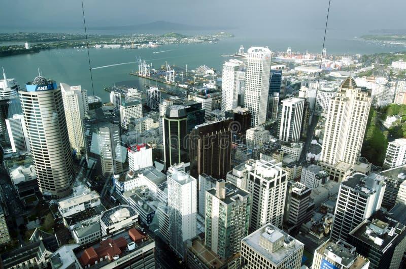 Paesaggio urbano di Auckland CBD - Nuova Zelanda NZ immagini stock libere da diritti
