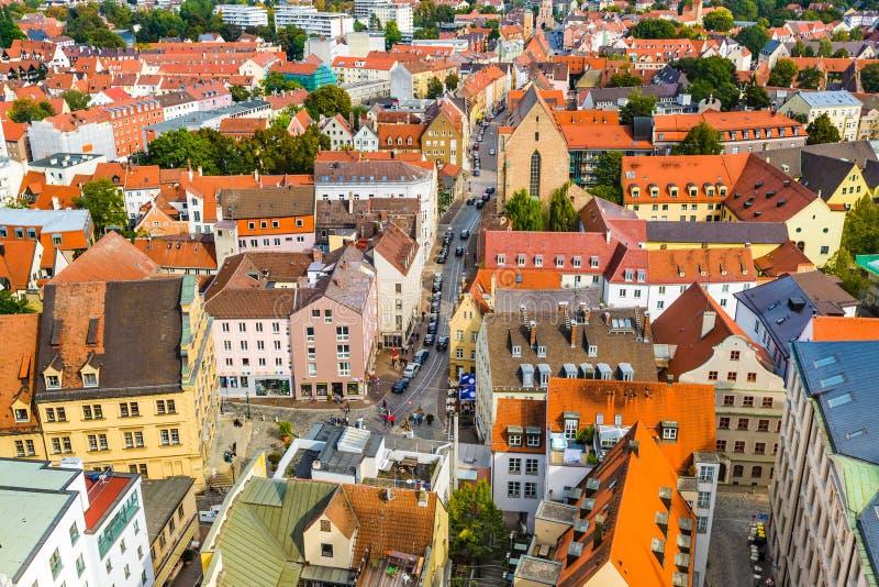 Paesaggio urbano di Augusta, Germania fotografia stock libera da diritti