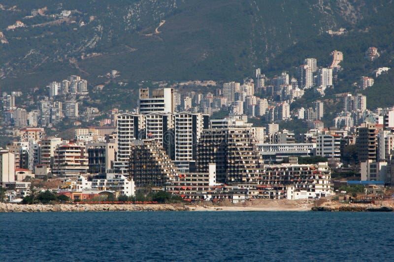 Paesaggio urbano di Beirut fotografia stock