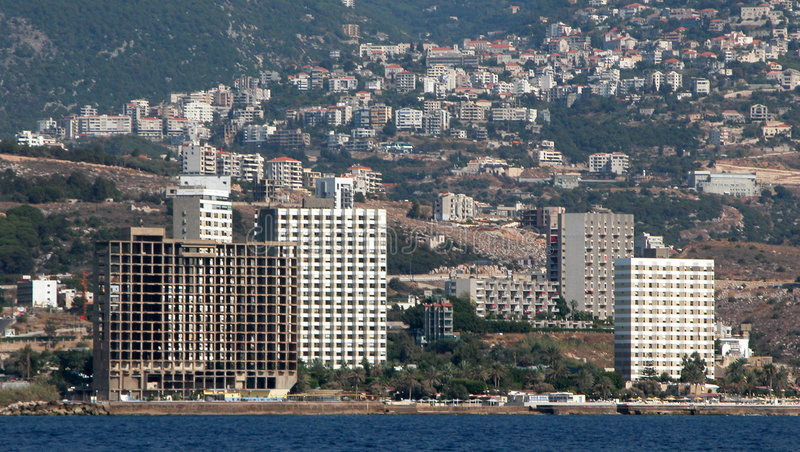 Paesaggio urbano di Beirut immagini stock