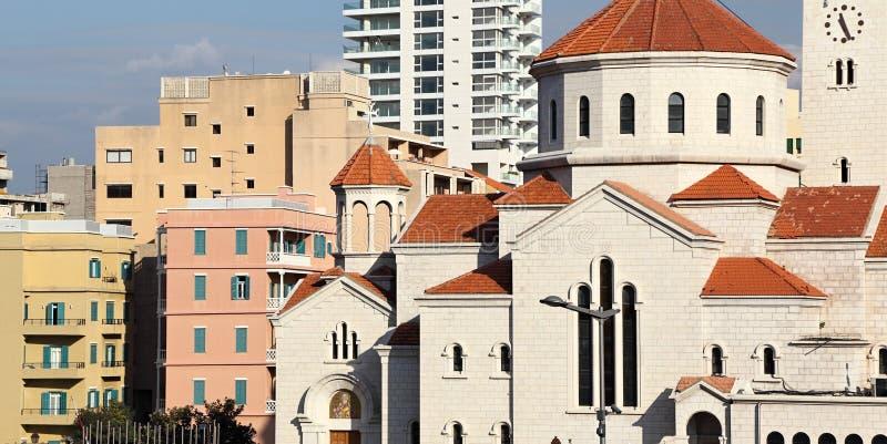 Paesaggio urbano di Beirut fotografia stock libera da diritti