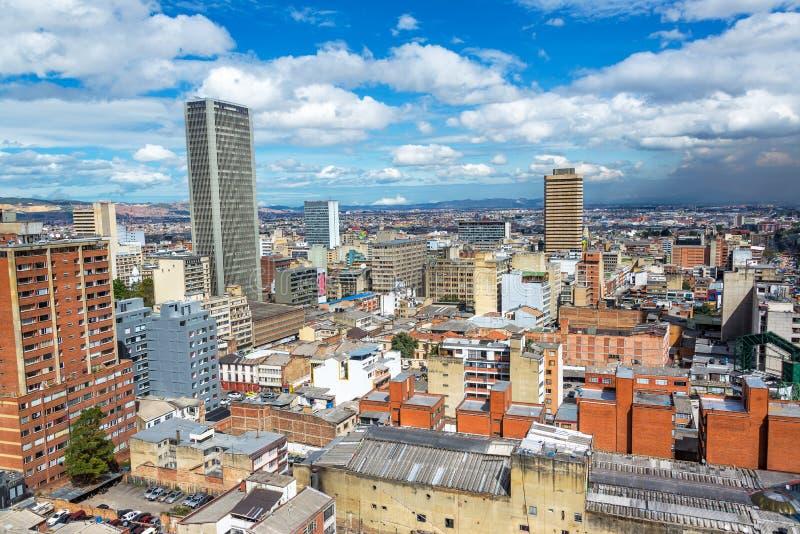 Paesaggio urbano di Bogota, Colombia fotografia stock