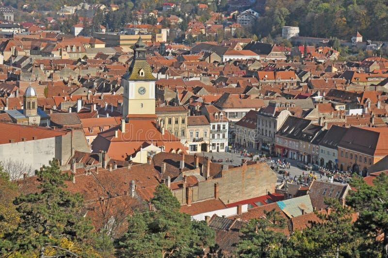 Paesaggio urbano di Brasov immagine stock