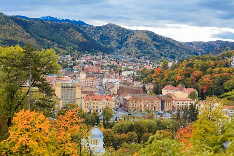Paesaggio urbano di Brasov, Romania fotografia stock