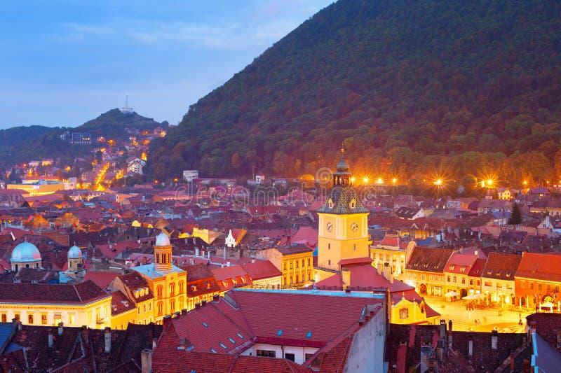 Paesaggio urbano di Brasov, Romania fotografia stock libera da diritti