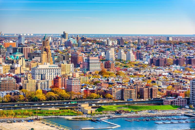 Paesaggio urbano di Brooklyn, New York immagine stock
